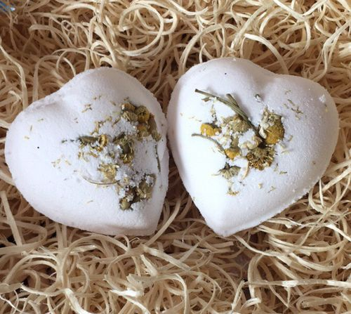 Chamomile Bath Heart with Sweet Almond Oil