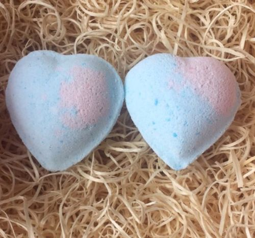 Baby Powder Heart with Coconut Oil