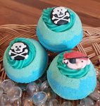 Captain Scrub Bath Bomb with Shea Butter