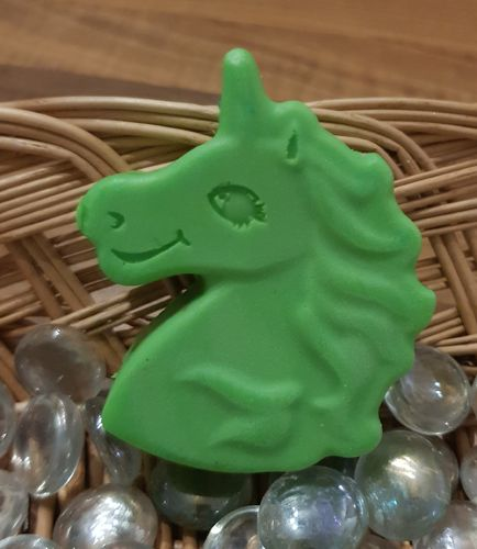 Green Unicorn Head Soap