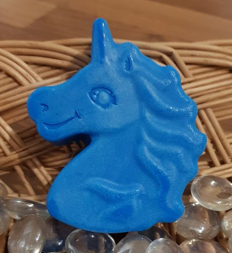 Blue Unicorn Head Soap