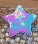 Jumbo Star Bath Bomb - Pink, Yellow & Blue